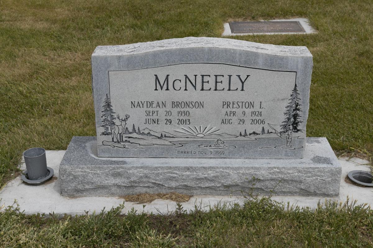 Preston L & Naydean Bronson McNeely Headstone